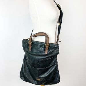 FOSSIL EXPLORER LARGE LEATHER CROSSBODY BAG